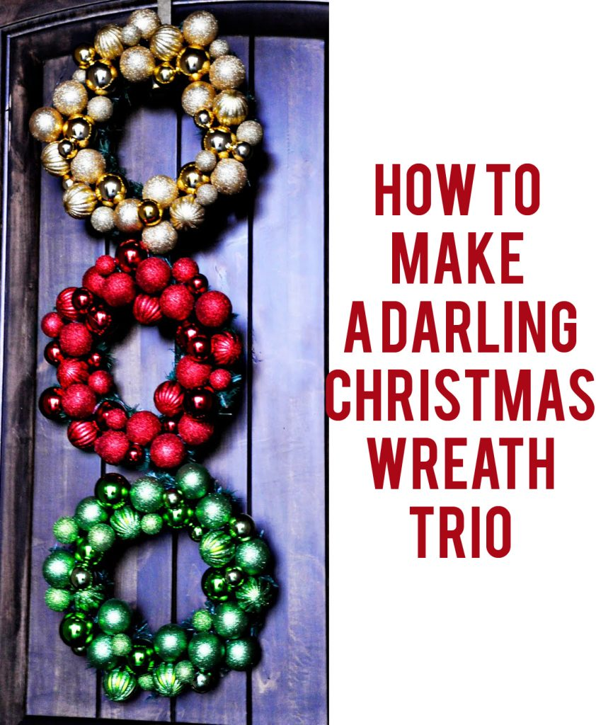 how to make a wreath trio