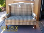 Double wing back Chair
