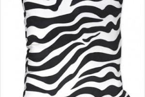 Funky+Zebra+Throw+Pillow
