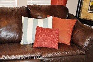 Throw Pillow Switch-a-roo!
