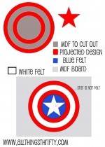 Captain America Wall Art, Part three of Benson's Room!