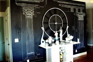 Chalkboard Paint Wall: Blue Ribbon Award