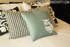 Cute owl pillow using my Silhouette Machine!