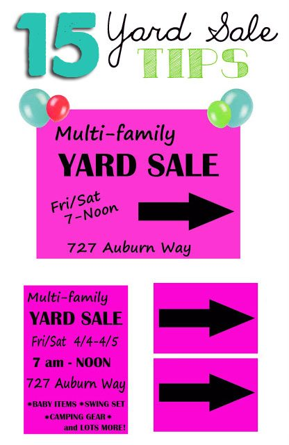yard sale sign ideas