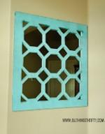 Turquoise Geometrical Mirror