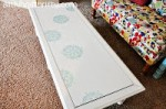 Yard Sale Coffee Table Transformation via Martha Stewart's Decorative Paint Line by Plaid
