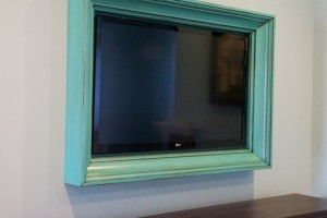 Custom TV Frame by Aspen Mills