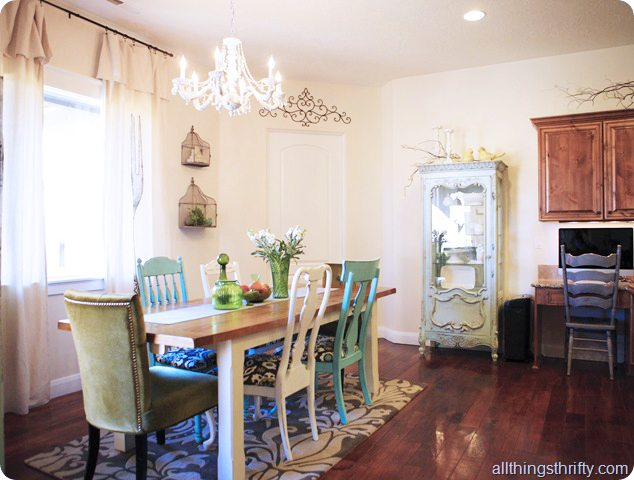 cottage style dining room redo