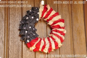 Barn Wood American Flag Decor and Patriotic Wreath {reminders}