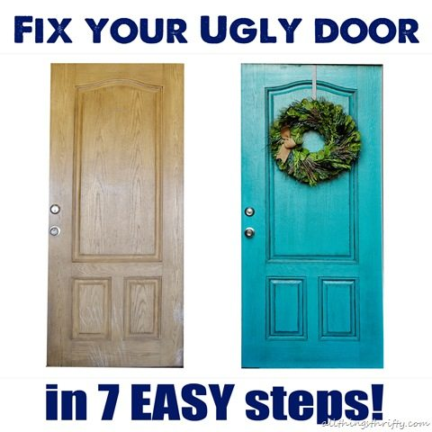 How To Paint Your Ugly Front Door All Things Thrifty
