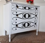 Stenciling Furniture {Giveaway closed}