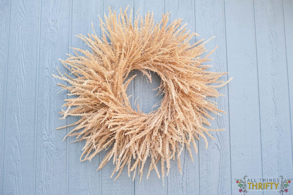 fall wreath from corn tassles-2