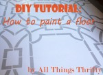 How to paint a floor {and what NOT to do}.