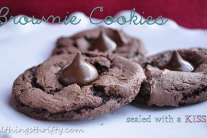 Brownie Cookie Recipe {sealed with a KISS} All Things Delicious