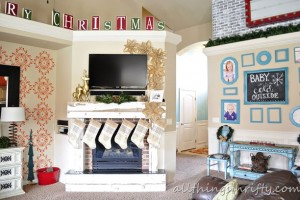 Homemade Christmas Decorations is THE answer! {Our 2012 Holiday Décor REVEAL!}