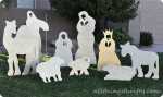 DIY Christmas Yard Nativity Set