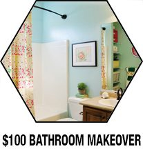 100 bathroom makeover
