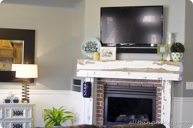 Room evolution from beige to grey. | All Things Thrifty