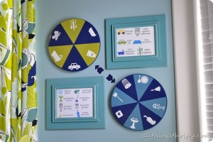 How to make a spinning chore chart {out of an IKEA Lazy Susan}