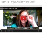 Yard Sale Tips from a few Yard Sale MASTERS