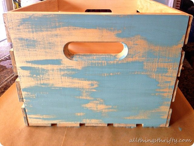 ... how-to-antique-with-paint-and-stain (6) - How To Antique Wood {with Paint And Stain} All Things Thrifty