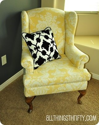 yellow wingback