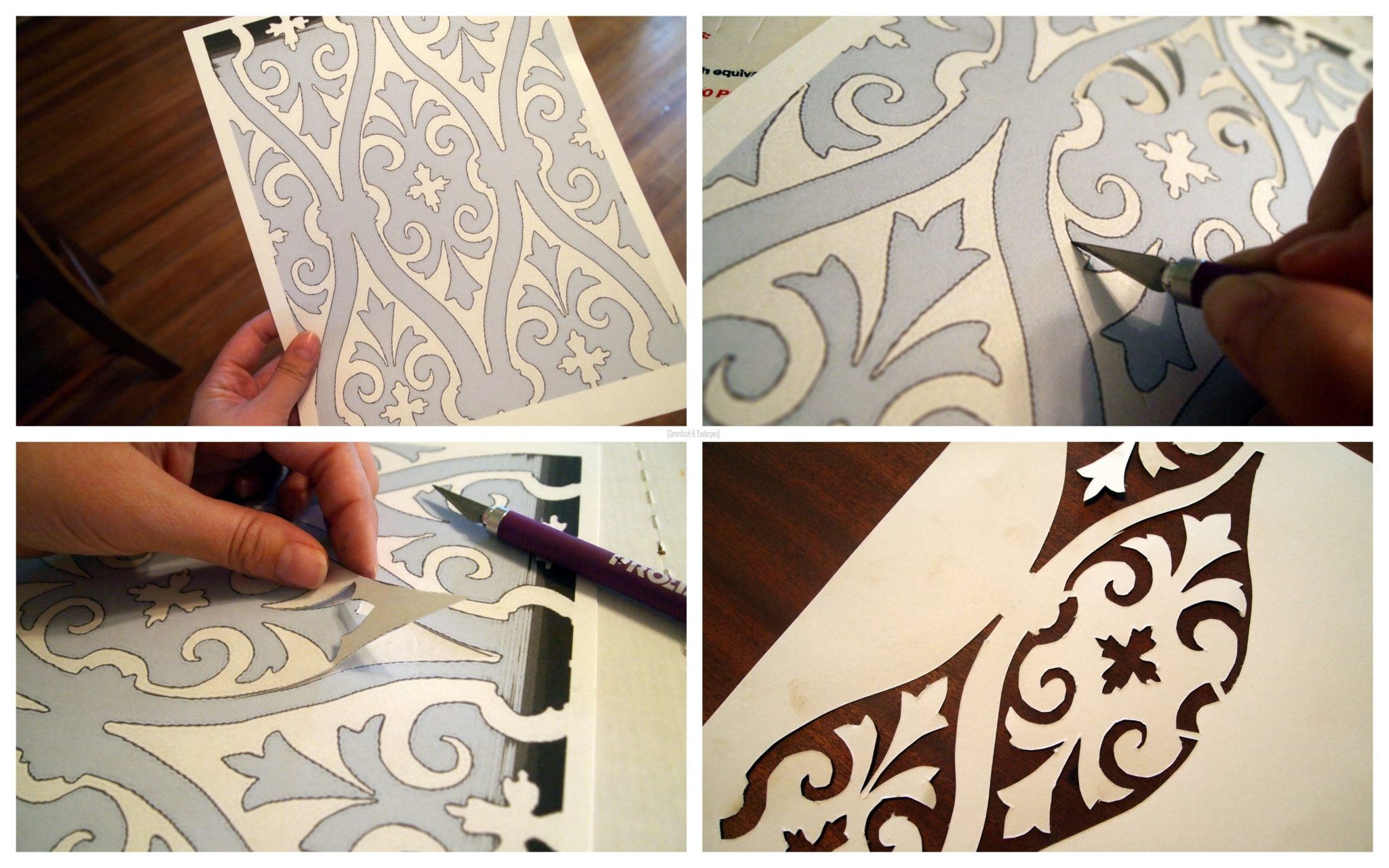how to make your own stencils we say how pictures to pin on pinterest. Black Bedroom Furniture Sets. Home Design Ideas