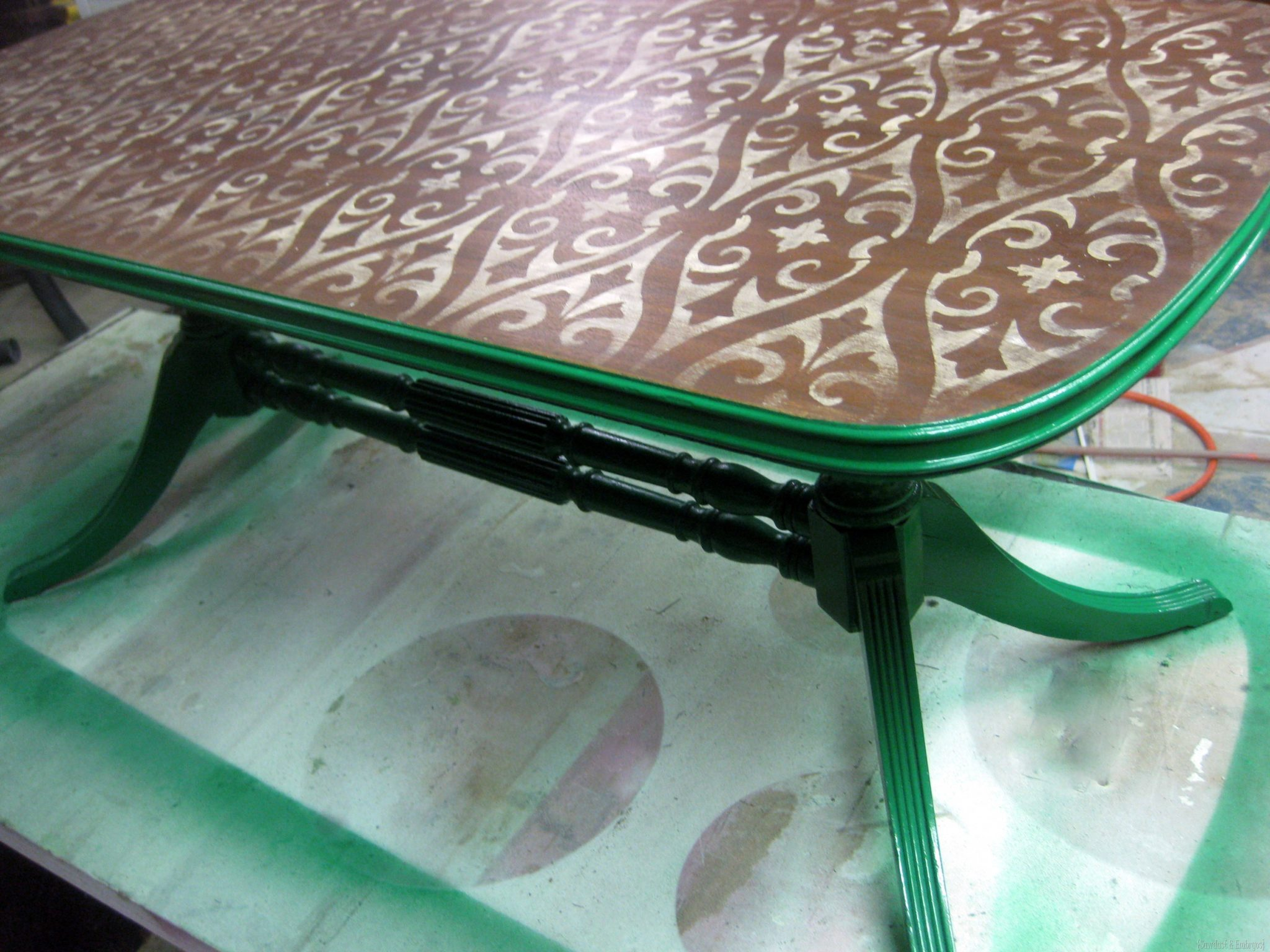 Nice Stenciled u Stained Coffee Table by SAWDUST u EMBRYOS