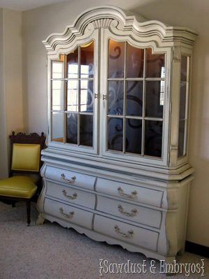Drexel China Cabinet Transformation {Sawdust and Embryos}