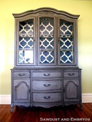 Marcy's China Cabinet Transformation {by Sawdust and Embryos}