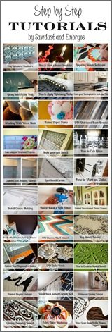 TONS of super helpful Tutorials {Sawdust and Embryos}