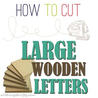 How to cut large letters with a jigsaw