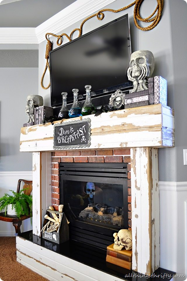 Halloween Mantle Ideas | All Things Thrifty