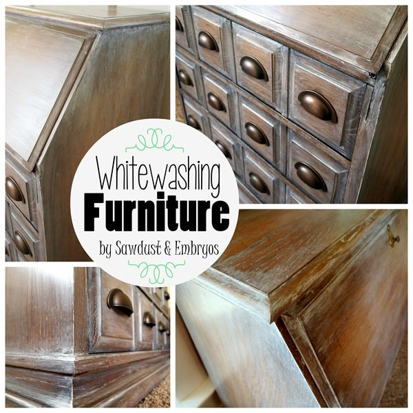 Tutorial for glazing or Whitewashing furniture to resemble expensive Restoration Hardware pieces! {Sawdust and Embryos}