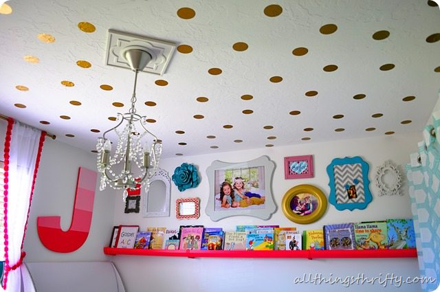 gold-polka-dot-ceiling