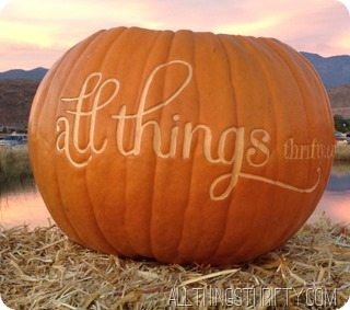 all things thrifty pumpkin