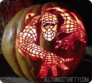 spider man pumpkin