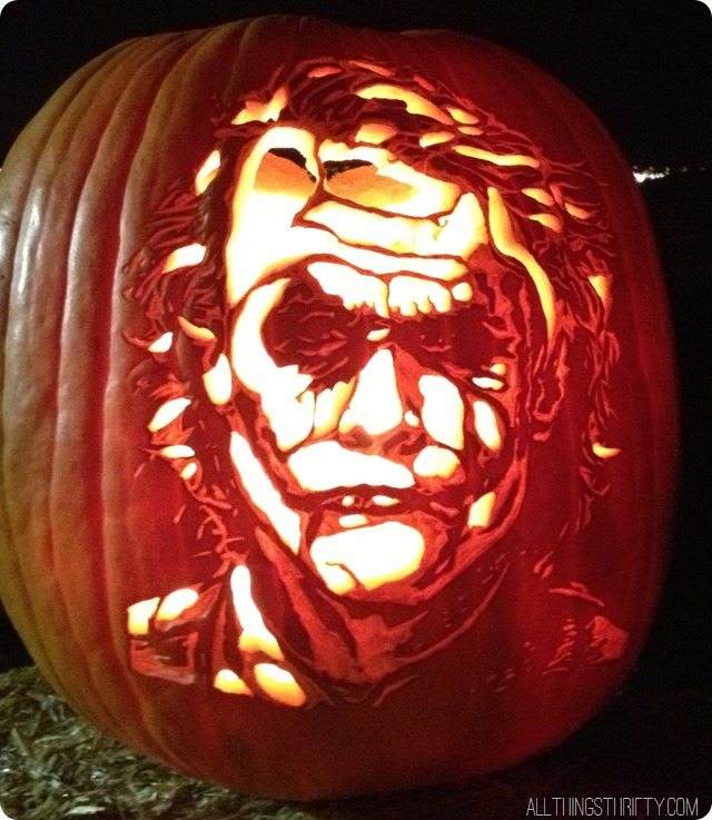 joker pumpkin pattern