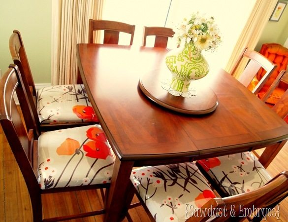 Clear plastic over dining chairs for child-proofing! {Sawdust and Embryos}