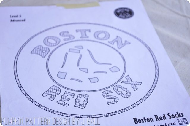 Boston Red Sox Pumpkin Pattern