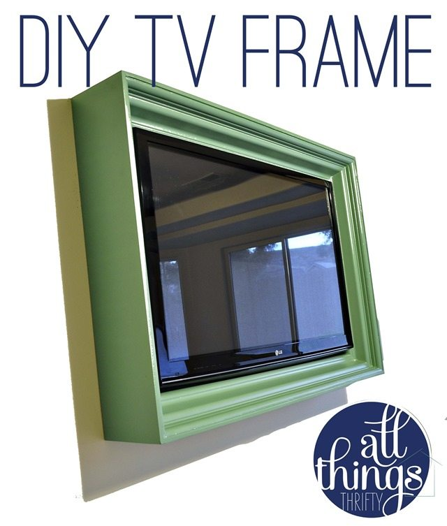 How to build a TV frame {Tutorial} | All Things Thrifty