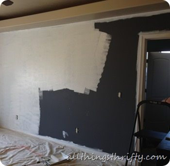 Master bedroom progress all things thrifty Priming walls before painting