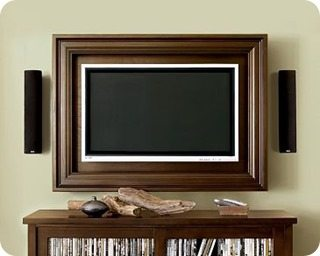i think tvs can be so big and ugly and since we are redoing our master bedroom right now making a tv frame for our room was on our to do list