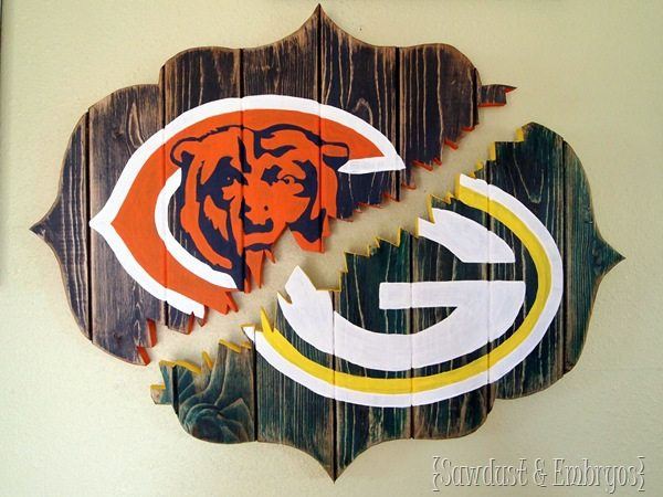 'House Divided' Broken Bracket-Shaped Sign {Sawdust and Embryos}