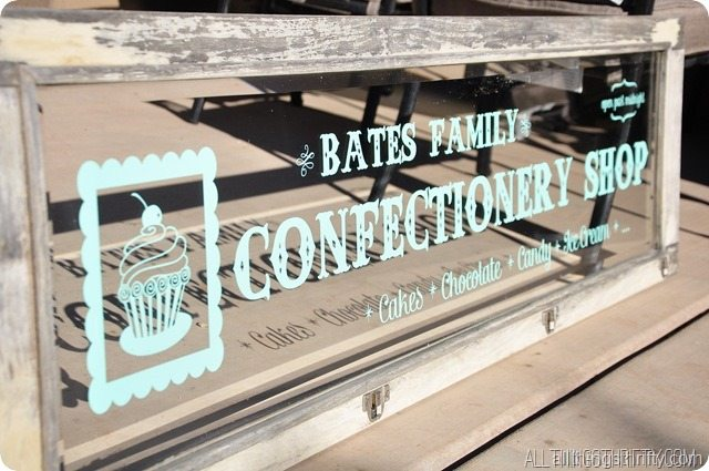 confectionery shop sign
