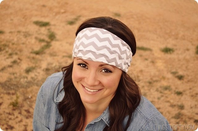 How to Make Jersey Headbands | All Things Thrifty