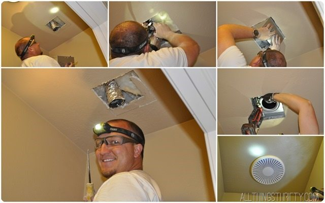 how to replace a bathroom fan