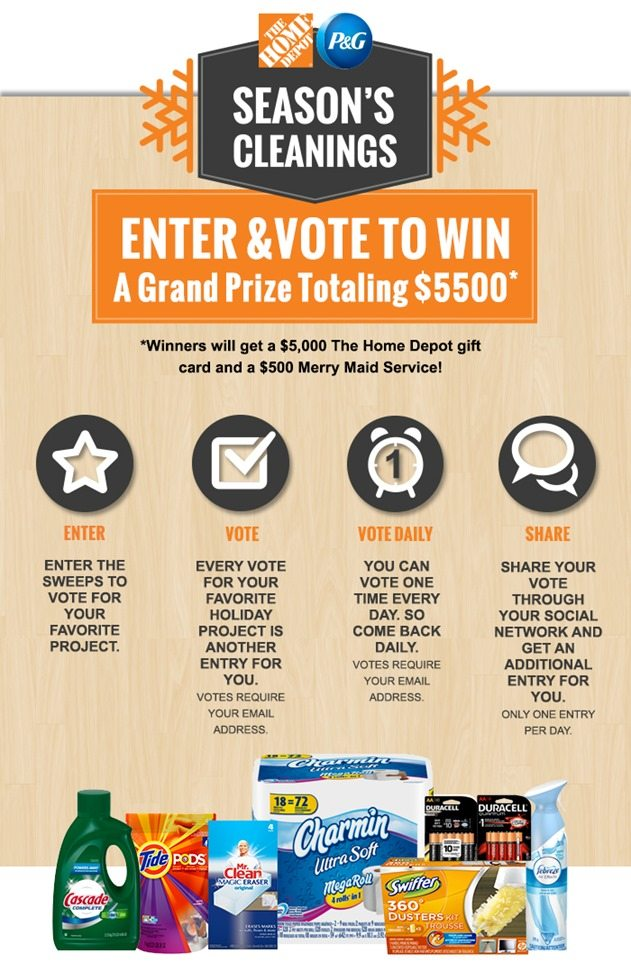 P&G THD Seasons Cleanings How to Vote