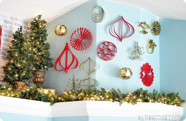 handmade paper loop christmas ornaments - Handmade Paper Christmas Decorations