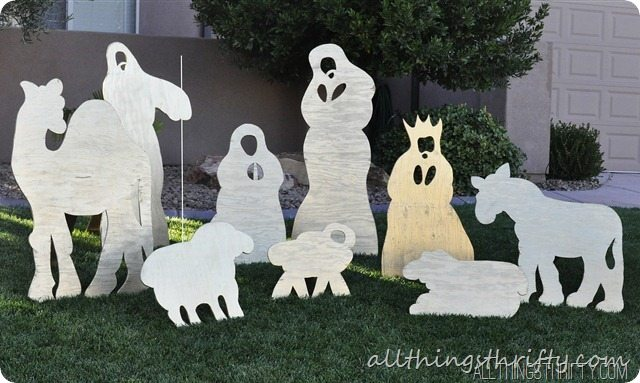 yard nativity set